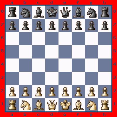 Schach Aufstellung Dame